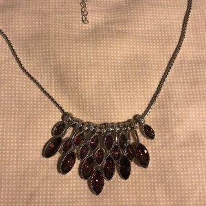 Beautiful Asymmetrical Silver Necklace